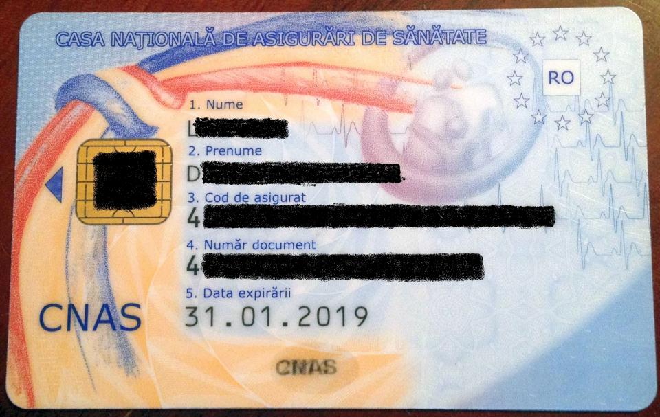 Valabilitatea cardurilor de sanatate