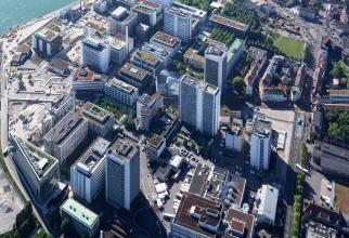 Campusul Basel al Novartis, vedere de sus. SURSA: Novartis