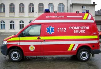 Parapantistul căzuta fost transportat la spital