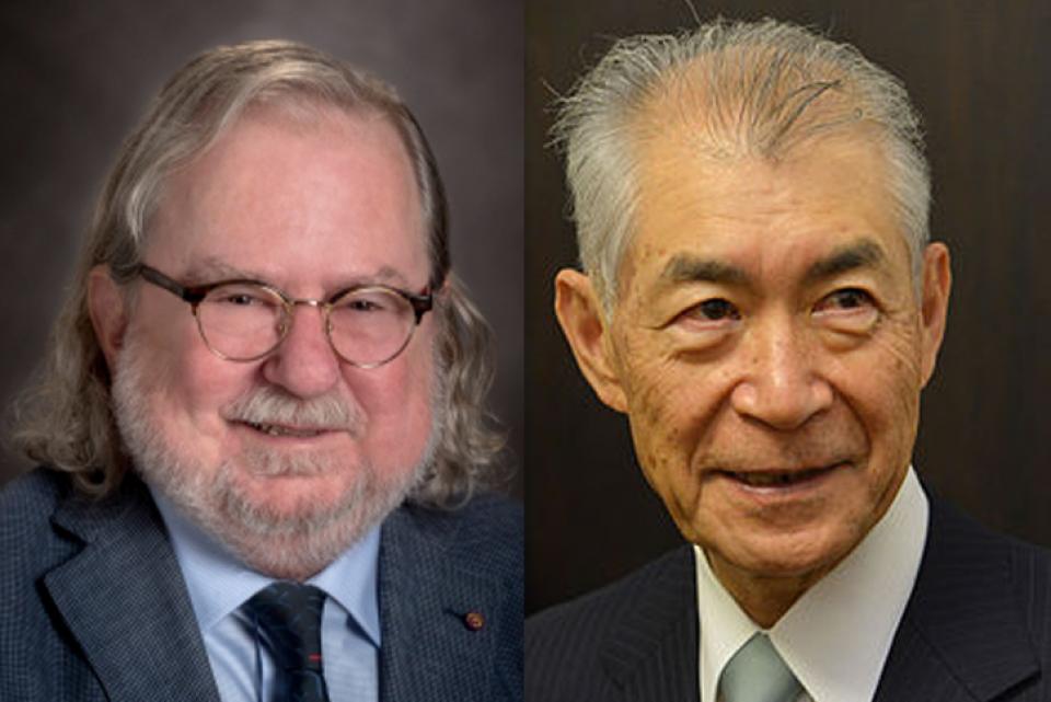 Prof.dr. James P. Allison și prof.dr.Tasuku Honjo împart Nobelul pentru Medicină în 2018. FOTO: Karolinska Institutet