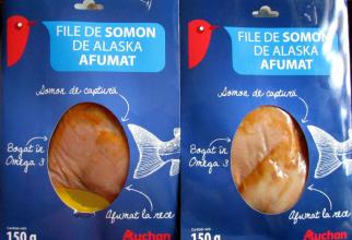 Două loturi de somon afumat proveniența Alaska de la Auchan au listeria monocitogenes