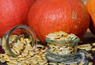 Semintele de dovleac sunt o sursa naturala de proteine și zinc. Foto: Pixabay