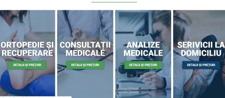 Site-ul clinicii arată foarte convingător