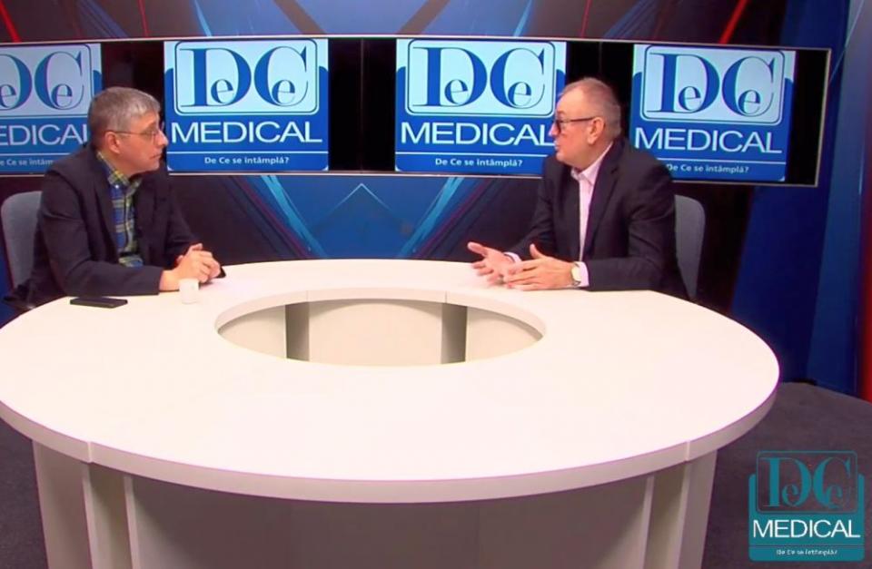Dr Laurențiu Bujor, director medical al Centrului Oncologic Sanador (dreapta), invitat la Interviurile DC Medical, realizate de Val Vâlcu