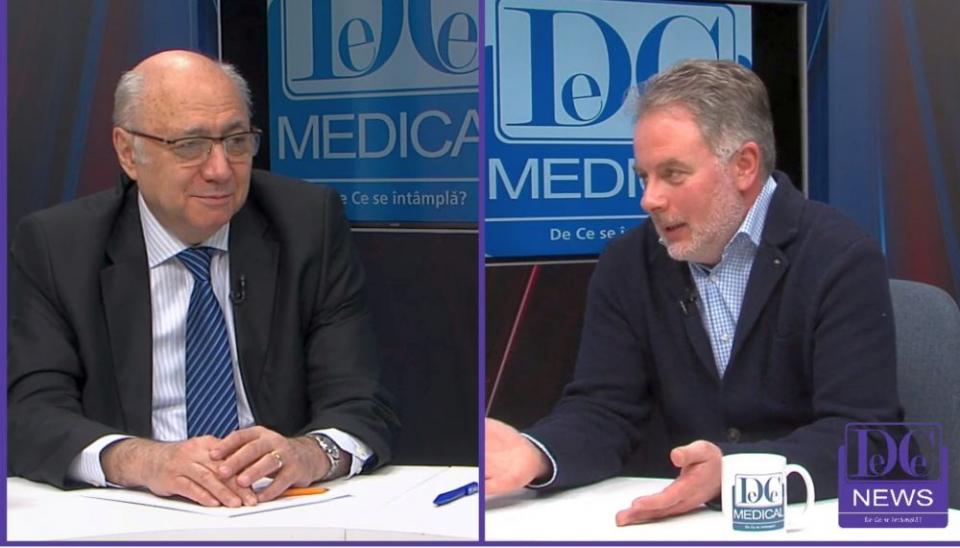 Acad. dr. Irinel Popescu și invitatul său, prof.dr. Codruț Sarafoleanu