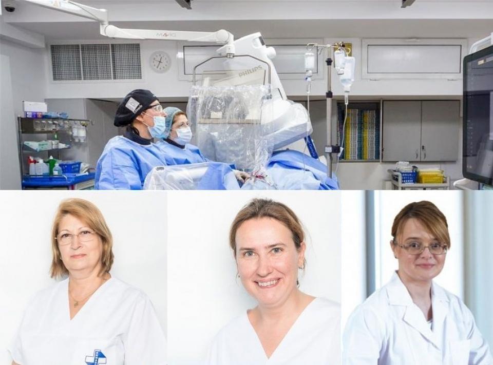 Echipa dr. Rodica Niculescu, dr. Cristina Spînu și dr. Andrada Bogdan, de la Clinica Sanador