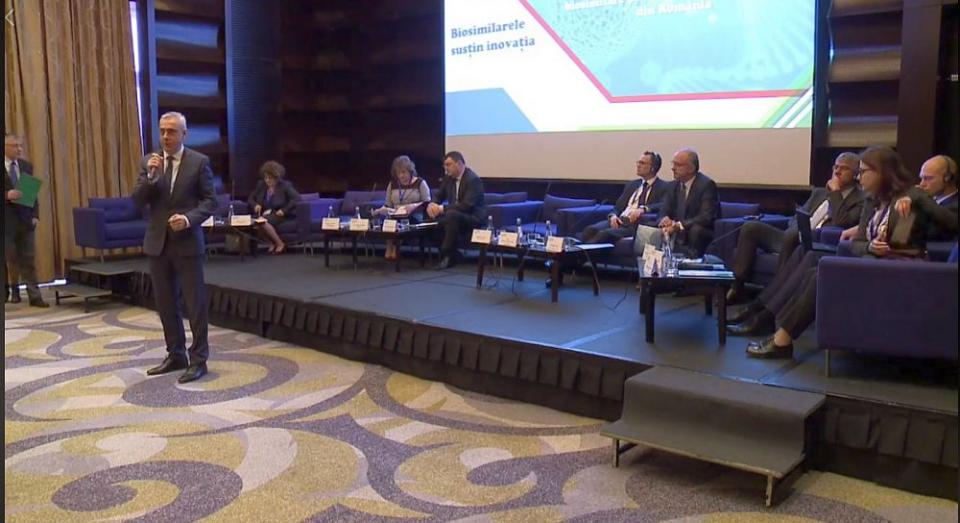 Specialiștii prezenți la Conferință au explicat avantajele pe care le aduc medicamentele biosimilare pacienilor și sistemului sanitar