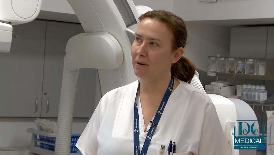 Dr. cristina Spînu, specialist în cardiologie intervențională la Spitalul Clinic Sanador