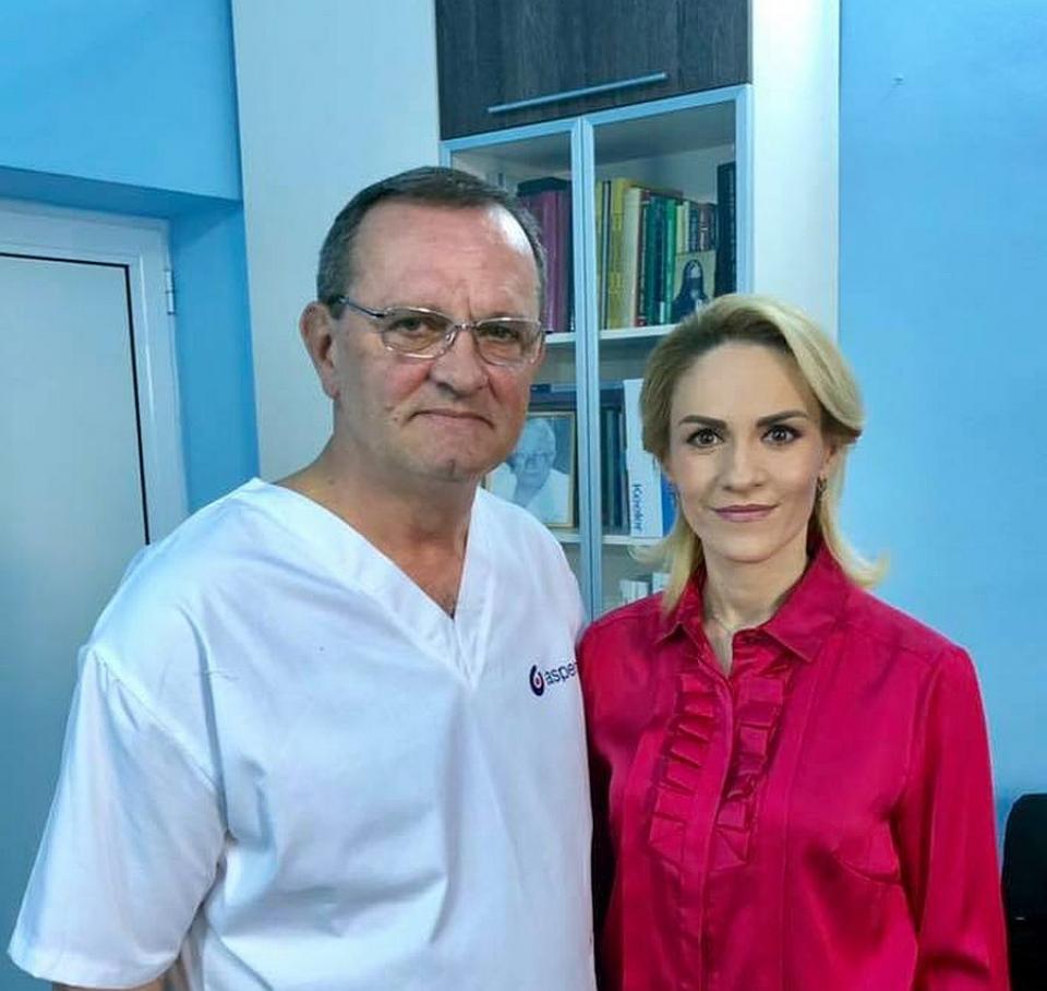 Gabriela Firea și conf.dr. Iulian Brezean, în ianuarie 2019. Foto: Facebook