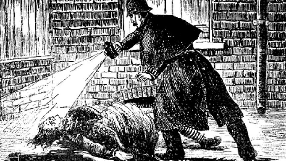 Polițiștii l-au suspectat pe bărbierul polonez că ar fi Jack Spintecătorul. Foto: The Illustrated Police News/Wikimedia Commons