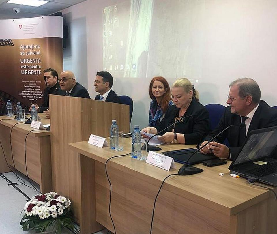 """Lansarea Campaniei """"Urgența este pentru Urgențe"""" a avut loc la Spitalul Floreasca din Capitală. Foto: DSU"""