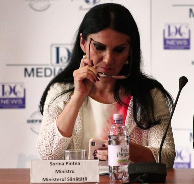 Ministrul Sănătății, Sorina Pintea  FOTO: DC Media Group