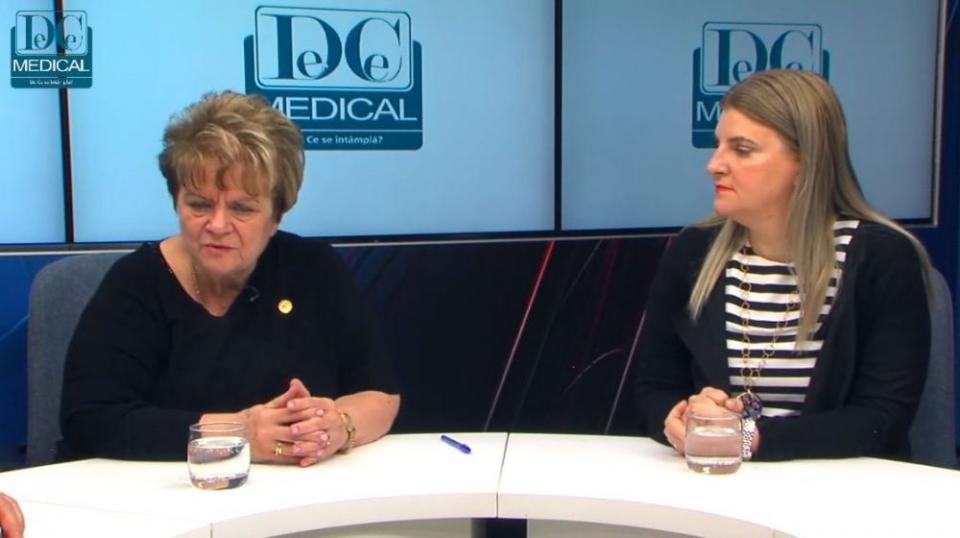 Prof.dr. Ioana Grințescu și conf.dr. Liliana Mirea. Foto: DC MEDICAL