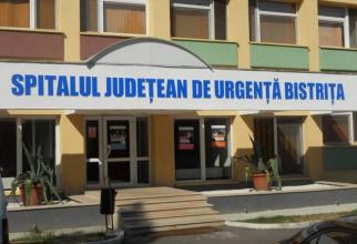 Intrarea în Spitalul Județean Bistrița  FOTO: Facebook Spitalul Județean Bistrița