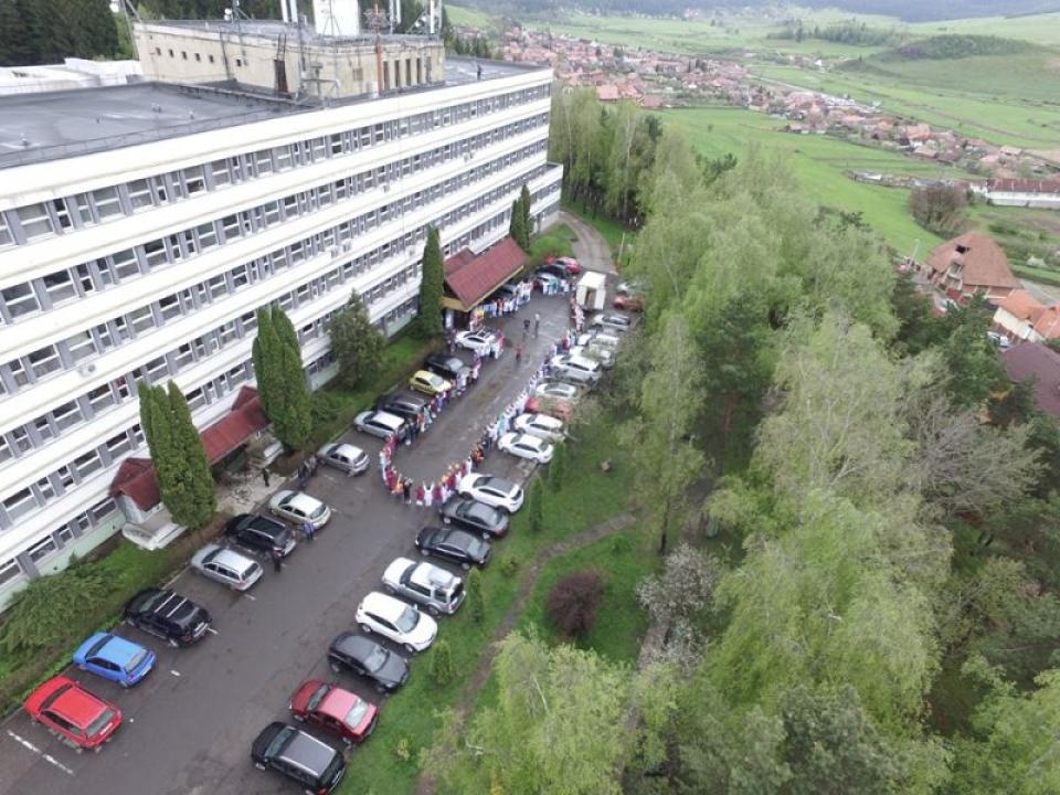 Clădirea Spitalului Județean din Miercurea Ciuc  FOTO: Facebook Spitalul Județean Miercurea Ciuc