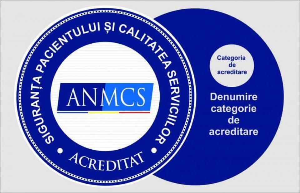 Însemne grafice care atestă acreditarea spitalelor  FOTO: ANMCS