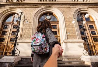 Intrarea în sediul central al UBB  FOTO: Facebook UBB Cluj