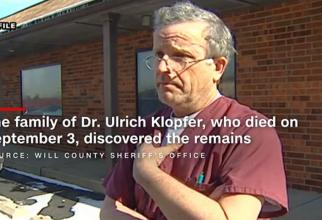 Dr. Ulrich Klopfer a decedat pe 3 septembrie, iar rudele au găsit în casa lui rămășițe de fetuși când făceau ordine. Printscreen/WNDU