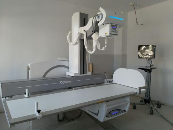 Noul aparat Roentgen primit de Spitalul de Recuperare din Cluj  FOTO: CJ Cluj
