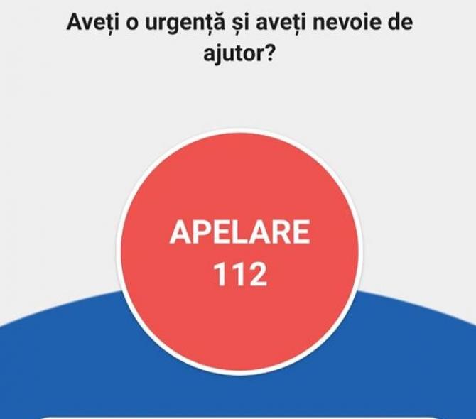 Aplicație 112 pe telefon  FOTO: Facebook STS