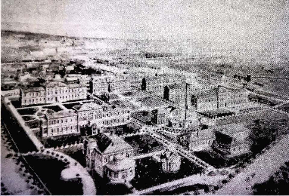 Spitalul Militar la începuturile sale  FOTO: Imagine de arhivă - Spitalul Militar Central în anul 1889