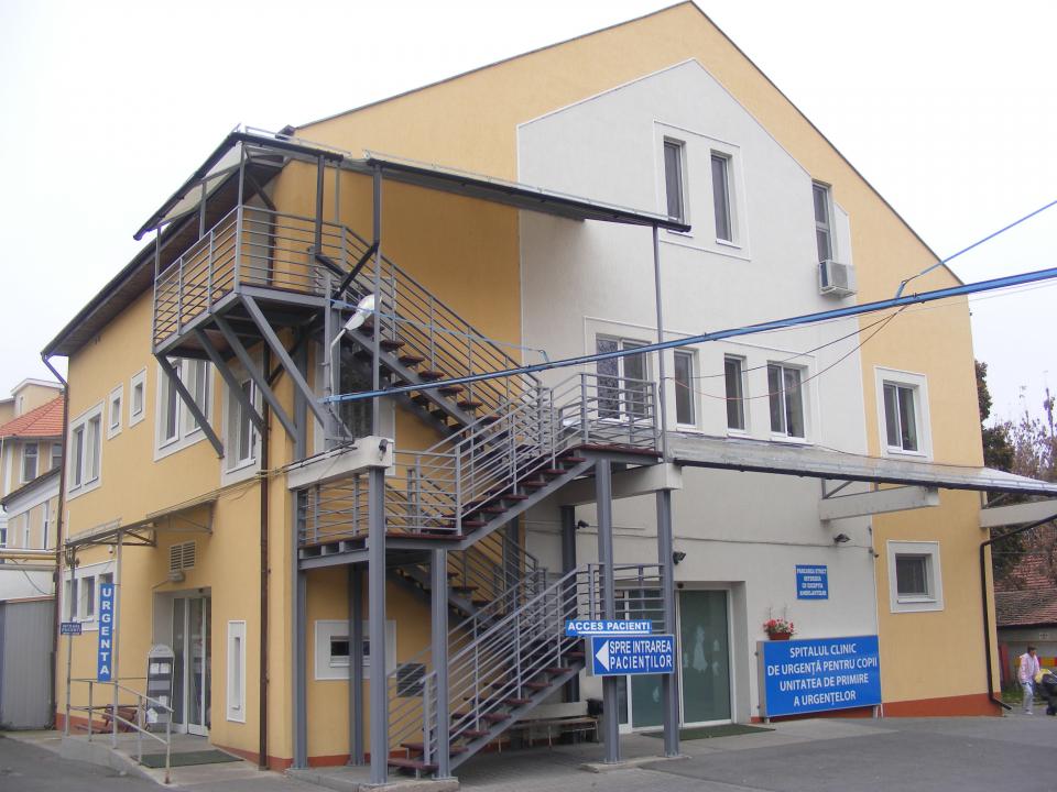 Clădire a Spitalului de Copii din Cluj   FOTO: CJ Cluj