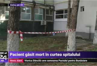 Locul unde a fost găsit pacientul decedat
