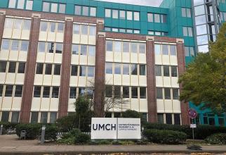 Clădirea primului campus universitar românesc, de la Hamburg din Germania. Foto: Facebook/Leonard Azamfirei