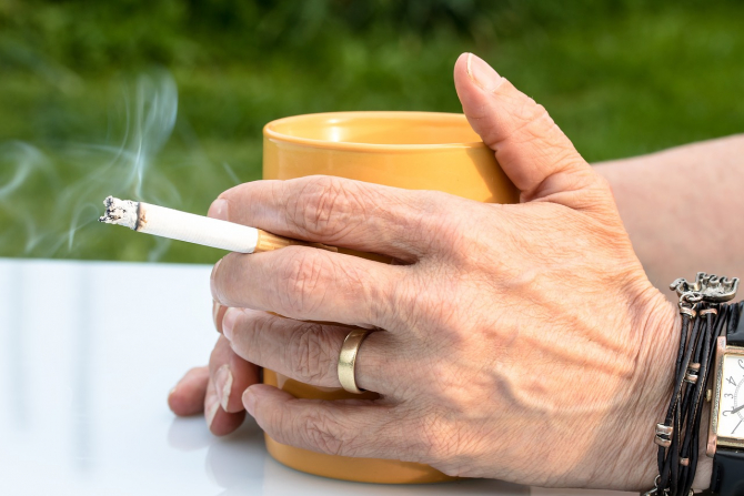 utilizarea tutunului provoacă pierderea în greutate)