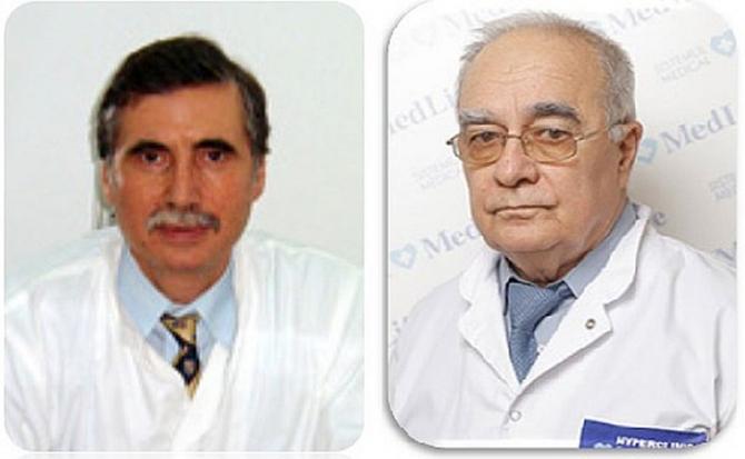 Prof dr Ioan Nedelcu și prof dr Vasile Ciuchi
