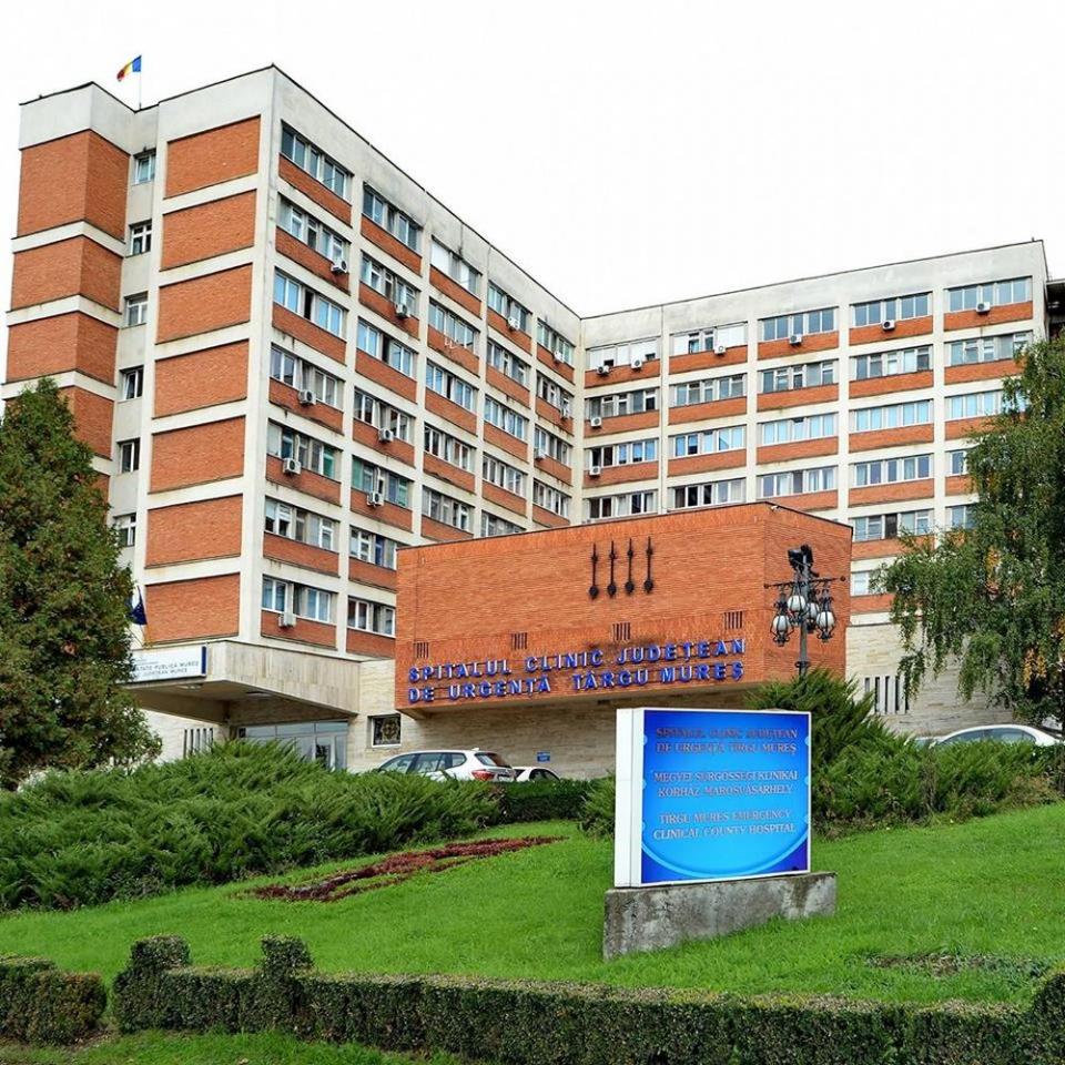 Spitalul Clinic Județean de Urgență Târgu Mureș. Foto: Facebook/SCJU Târgu Mureș