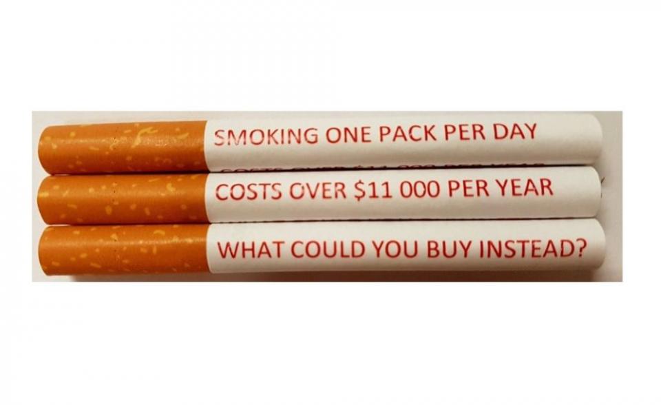Mesajele scrise direct pe fiecare țigară au efect mai mare decât cele de pe pachete