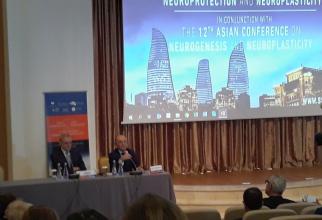 Prof dr Dafin Mureșanu (dreapta) și prof dr Natan Bornstein (Israel), amfitrionii celor două congrese