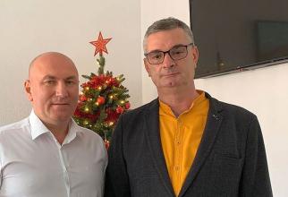 Gabriel Lazany (stânga) și Vasile Lucian Pintea. Foto: Facebook