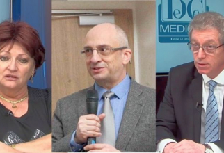 Prof dr Monica Pop, frof dr Dragoș Vinereanu și prof dr Adrian Streinu-Cercel