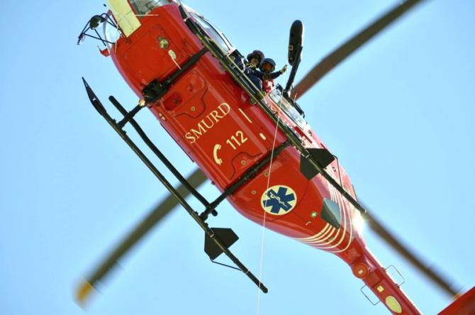 Elicopter SMURD.      Foto: DSU/Facebook
