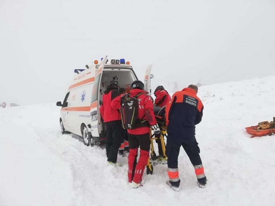 Salvamontiștii au fost solicitați în special la schi    Sursa foto: facebook.com/romania.salvamont/