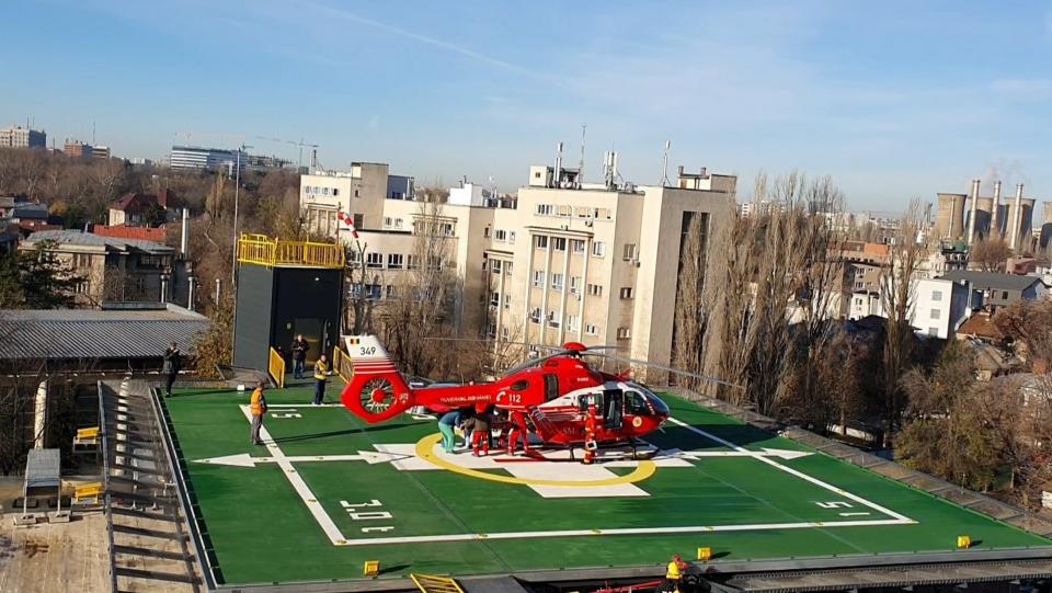 Heliportul Spitalului Universitar de Urgenţă Bucureşti FOTO Facebook