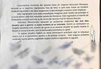Comunicatul dat de medicii protestatari