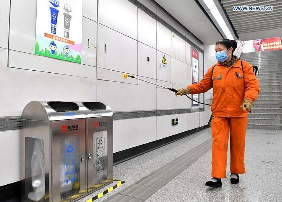Dezinfecție  Foto: news.cn/Xinhua