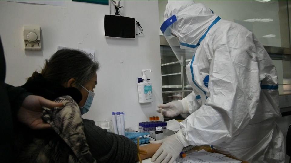 Teste coronavirus       FOTO: printscreen Agenția Chineză Xinhua