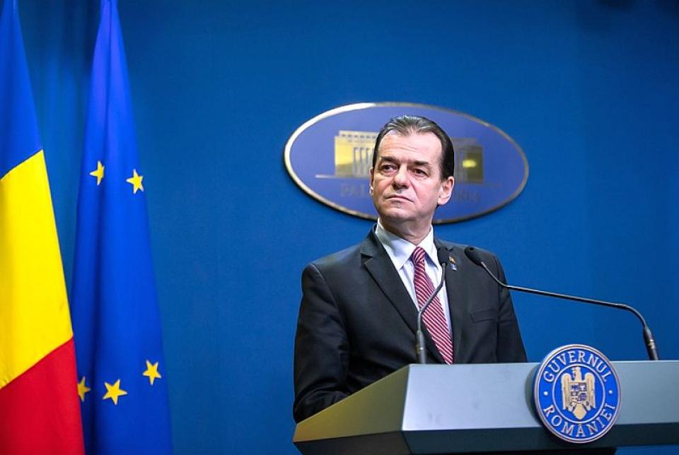 Premkierul Ludovic Orban. Foto: gov.ro
