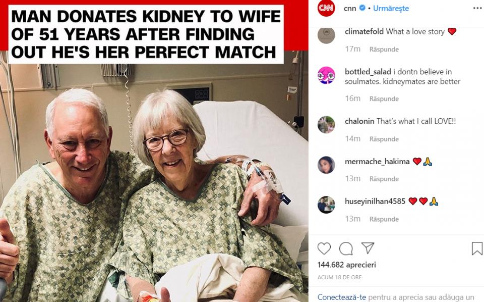 Cei doi soți   FOTO: captură CNN Instagram