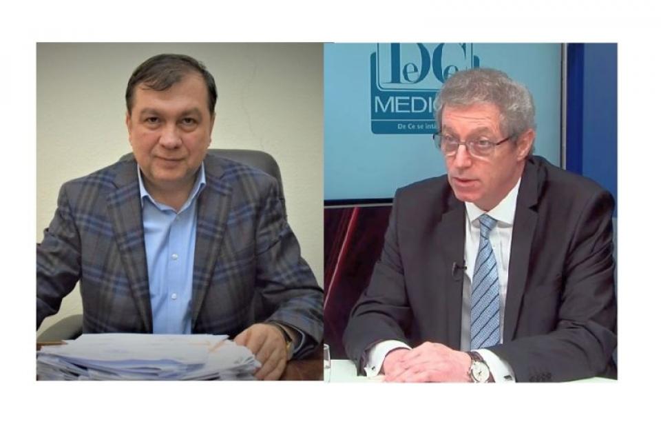 Prof dr Viorel Jinga și prof dr Adrian Streinu-Cercel, adeversari în cursa pentru funcția de rector