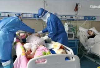În China, zeci de mii de pacienți sunt infectați cu coronavirus. Foto: Xinhua Video