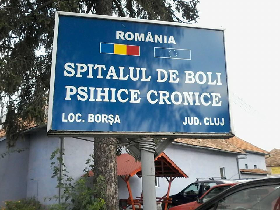 Spital de Boli Psihice Cronice Borşa. Foto Facebook