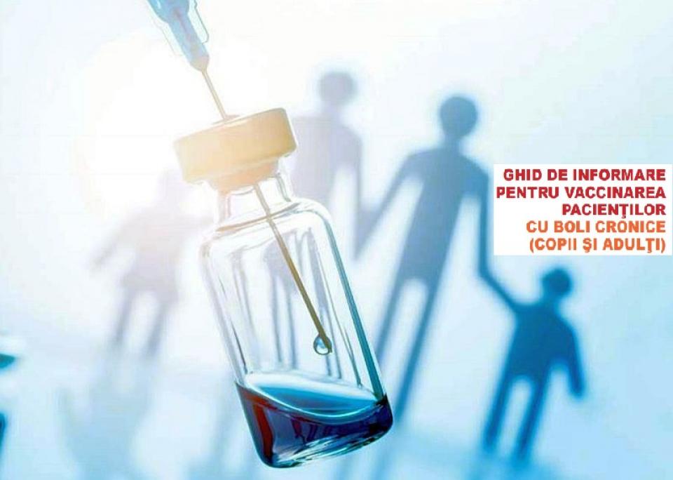 Ghid de vaccinare pentru pacienții cu boli cronice, lansat de COPAC