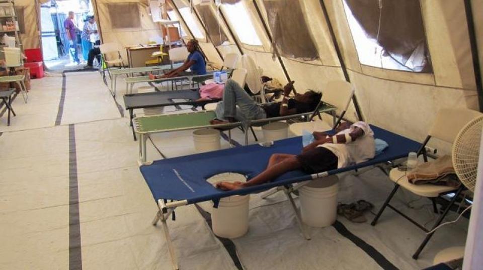 Pacienți cu holeră. Foto: CDC