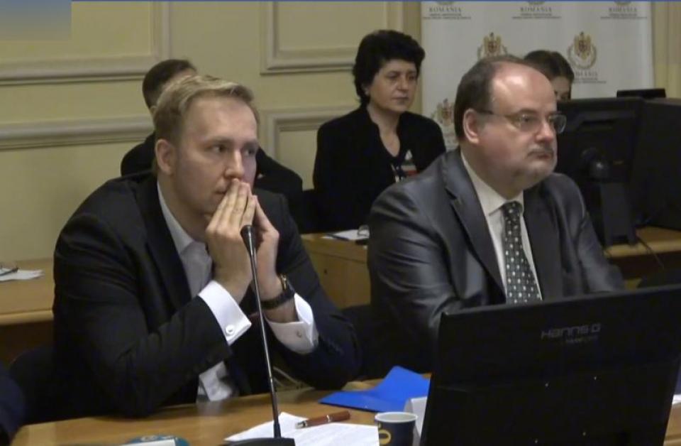Victor Costache, audieri la Parlament. Foto: Print screen DC News