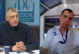 Jurnalistul Val Vâlcu și dr Răzvan Stavri.
